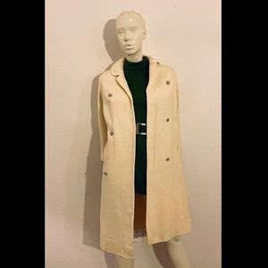 50s Winter White Dress Coat I.MAGNIN, Stroock Wool